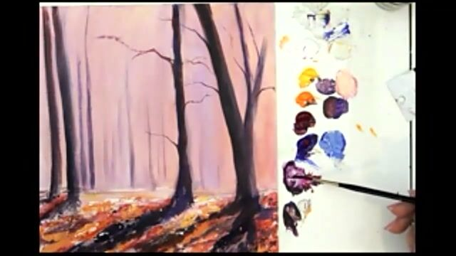 Autumn Abstract - Woodland Trees and Foreground Details