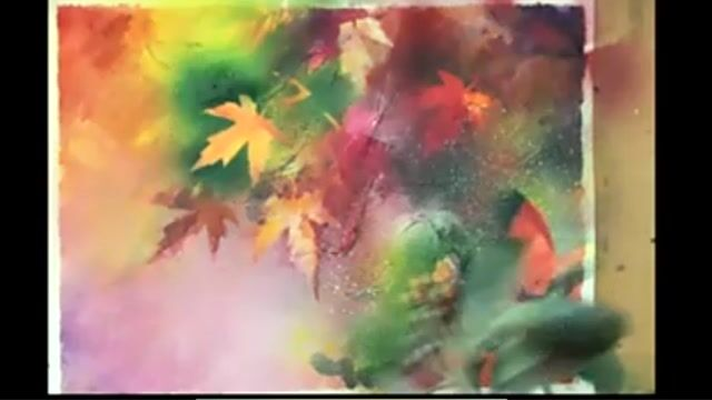 Autumn Abstract - Maple Tree Spray Paint Preparation and Painting
